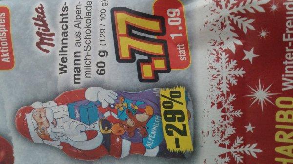 [Netto] Milka Weihnachtsmann 60 g statt 1,09 für 0,77