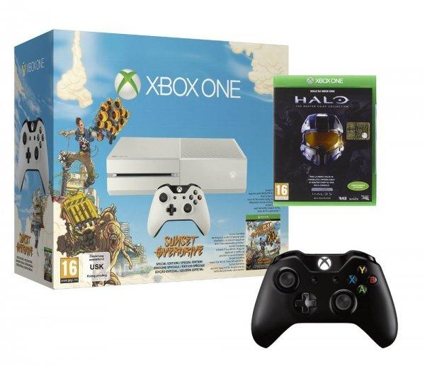 Xbox One  Weiss mit Sunset Overdrive und Halo und 2. Controller amazon.it