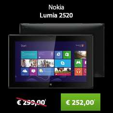 Sparhandy Black Friday #5 - Nokia Lumia 2520 Tablet für 252 € - 10.1'' / Windows RT 8.1 / Snapdragon 800 / 1920x1080 / 2 GB RAM / 32 GB Flash / 4G / 8000mAh