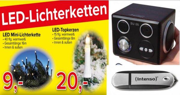 [Lokal Münster] Omega Electronic Angebote:Musik Würfel,32 GB USB-Stick, LED Beleuchtung etc.