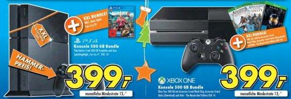 [Lokal+Online]Funk Euronics Merzig Xbox One 500GB mit Halo, Unity und Black Flag (bis 03.12 Online) oder PS4 mit Far Cry 4 für 399€