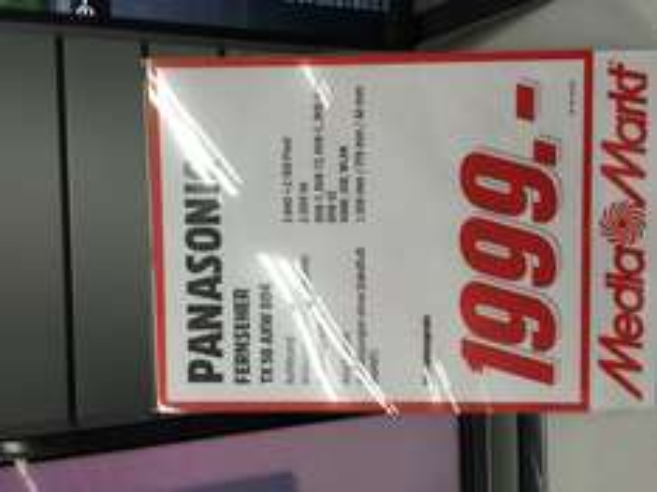 Samstagsknaller!! Panasonic 58 AXW 804 im Media Markt Stuttgart Milaneo + 250€ CashBack