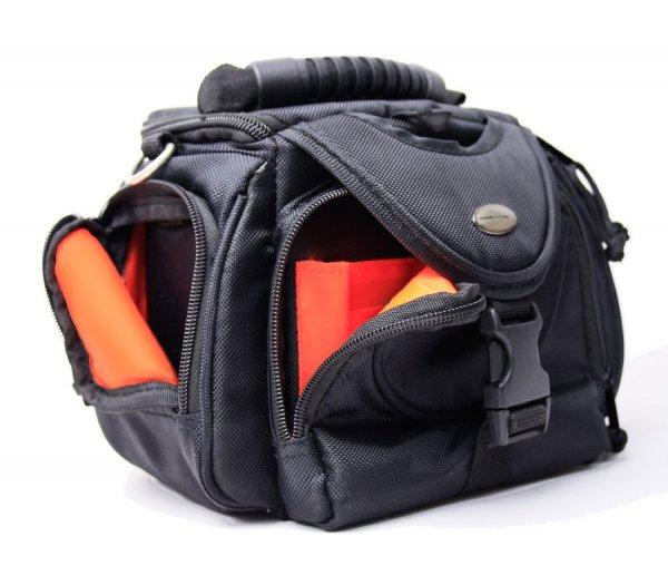 Maxampere Kameratasche schwarz außen / orange innen