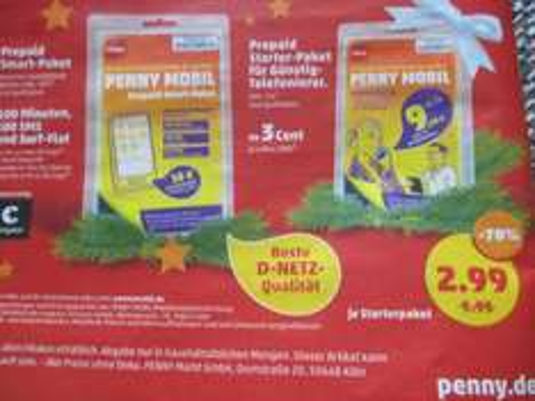 Penny Prepaid Starter Paket 2,99