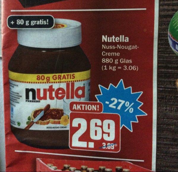 (HIT, ggf bundesweit), Nutella 2,69 (3,06/kg)