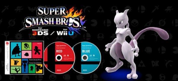 Smash Bros. Soundtrack CD + Mewtu DLC kostenlos [Super Smash Bros. WiiU & 3DS muss registriert werden]
