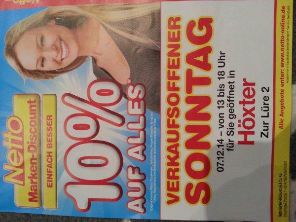 [Lokal] 10% auf alles bei Netto in Höxter am 07.12.2014
