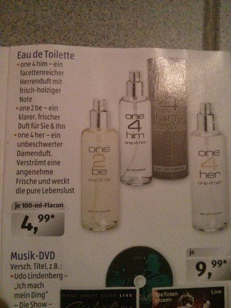 "Aldi Süd, Parfüm Klon ""One2be"" 4,99 Euro ab 4.12"