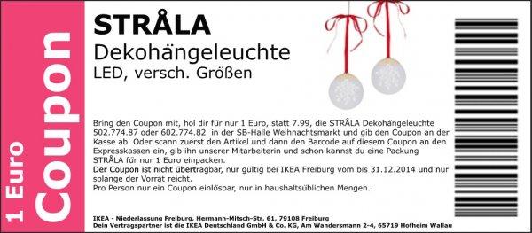 [Ikea Freiburg]  STRÅLA  Dekohängeleuchte LED für 1€ anstatt 7,99€