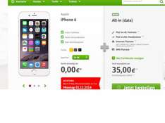 Base All-in (data) 35,00Euro + Iphone 6 16GB ohne Zuzahlung + 40Euro Cashback