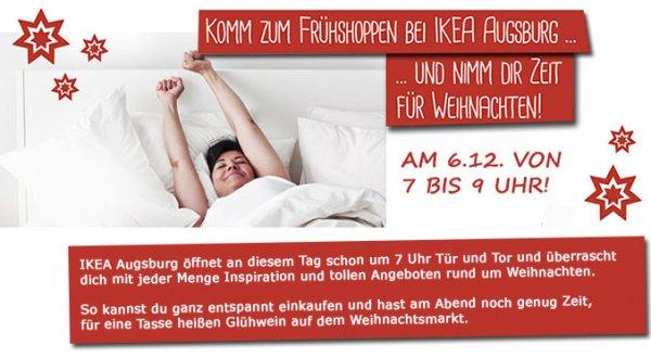 [IKEA Augsburg ] Frühaufsteher-Coupon -  Für 100€ einkaufen am 6.12.von 7-9Uhr und eine Nordmanntanne bis 2,5meter gratis