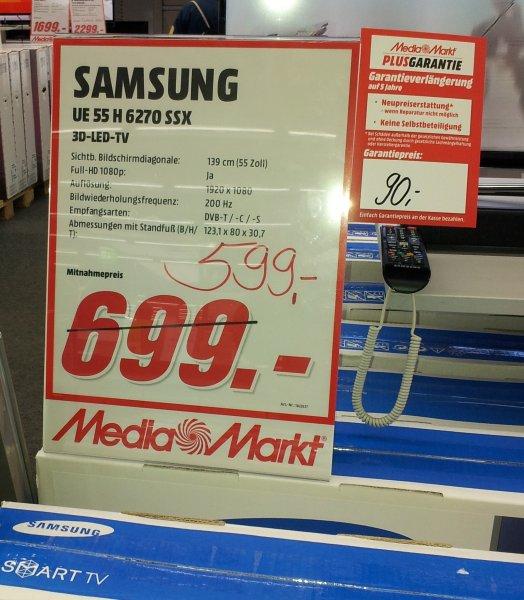 Samsung UE55H6270 für 599€ im Media Markt Berlin Biesdorf