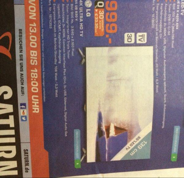 (LOKAL KÖLN) LG 55UB830V 55 Zoll 4k Ultra HD 999 EUR