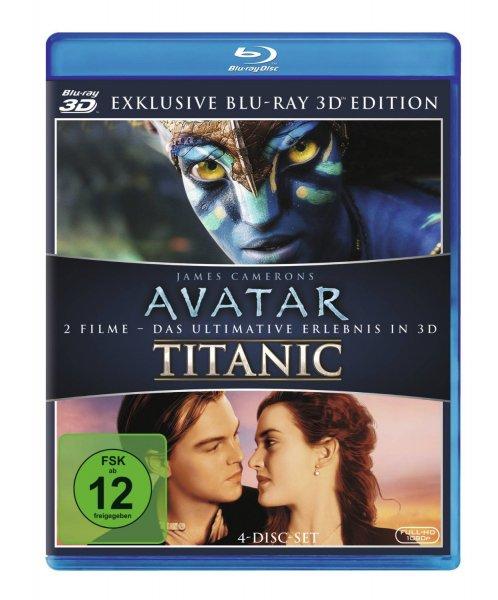 Avatar 3D und Titanic 3D: Amazon Blitzangebot Blu-ray €19,97 bis 16 Uhr