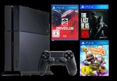 PlayStation 4 500GB schwarz inkl. DriveClub, LittleBigPlanet 3, The Last of Us
