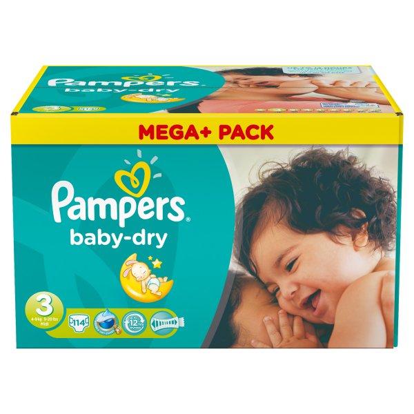 Marktkauf Ingolstadt: Pampers baby-dry Mega+ Pack verschiedene Größen