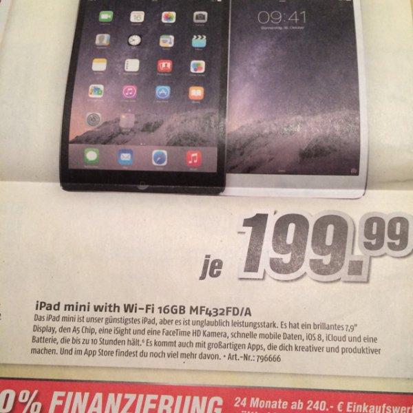iPad Mini 16gb wifi bei medi max