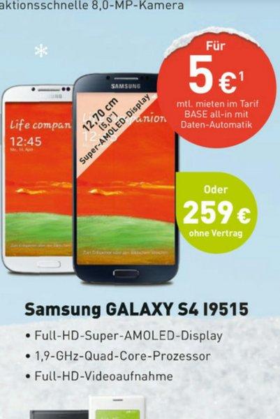 Samsung Galaxy S4 i9515 @ BASE Bundesweit (Offline)