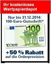 Depot 1822direkt 100€ Aktivierungsprämie + 87€ Bee5 Prämie