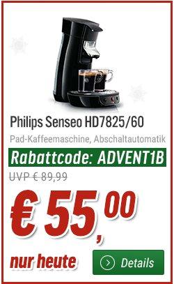 [01.12] Senseo HD7825/60 Viva Café schwarz für 55€ @notebooksbilliger.de