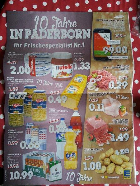 [LOKAL Paderborn] EDEKA Rumpsmüller - Nutella 450g für 1,33€ => 1kg = 2,96 € + weitere Angebote!!