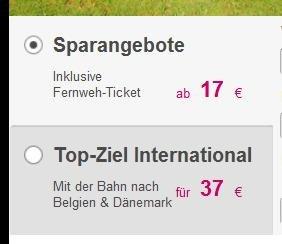 L'TUR Bahn: Belgien & Dänemark 37€, Deutschlandweit für noch 17€!