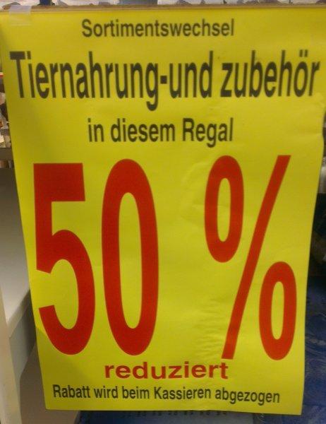 [Offline] Hagebaumarkt Zwickau - 50% auf Tiernahrung und Zubehör wegen Sortimentswechsel!