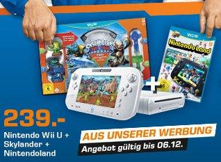 Wii U + Nintendoland + Skylander SATURN Werbung