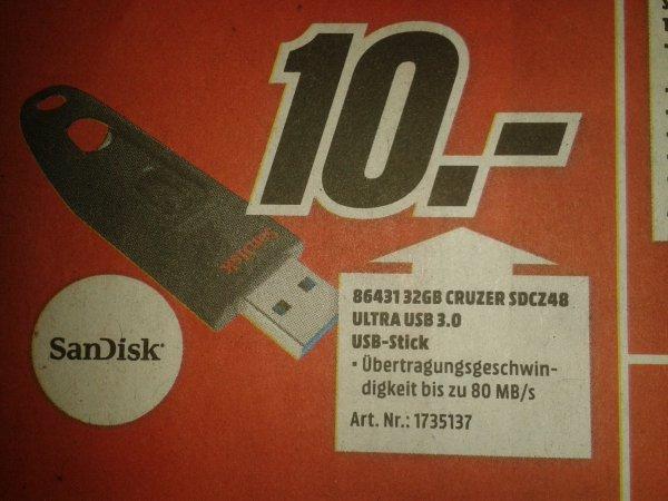 [MM Karlsruhe] Sandisk Cruzer Ultra 32 GB USB 3.0