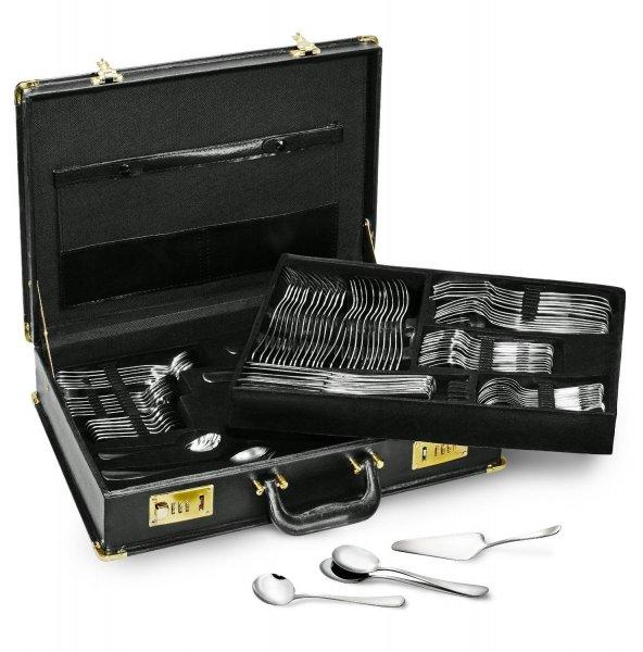 Ebay Karcher Besteck Set Tennessee 100 teilig 18/0 Edelstahl im Koffer 12 Personen  zu 48,89€