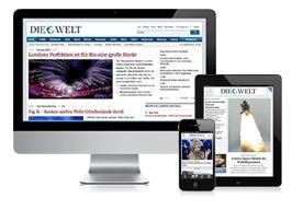 Die Welt - Digital Komplett + ePaper (2 Monate) für 99 Cent