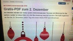 Motorrad-Online Adventskalender: Jeden Tag ein PDF umsonst