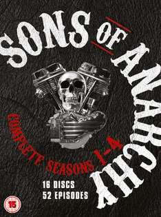Sons of Anarchy - Season 1-4 [DVD] (OT) für 12,59€ @Zavvi.com