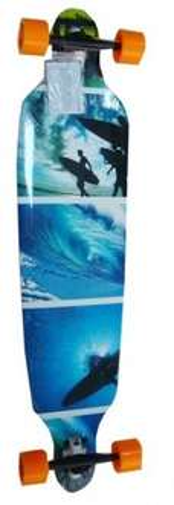 (Rakuten) LONGBOARD Drop Shape 103cm SURF BLUE Canadian Maple Deck  für 89,90€