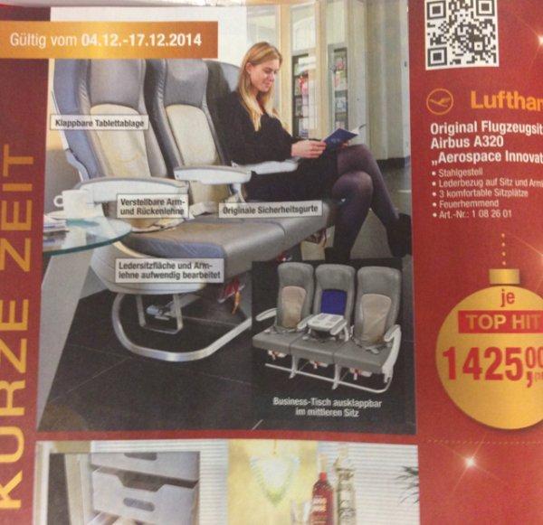Orginal Airbus A320 3er Sitzreihe für 1425.- € / netto bei Metro
