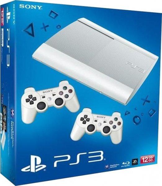 PlayStation 3 12 GB (weiß) + 2 Controller @ favorio für 199,90 Euro