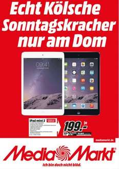 Apple iPad mini Retina 16GB WiFi für 199€! LOKAL @ Mediamarkt Köln City Dom