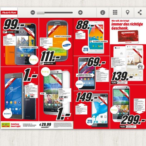 HTC 310 f. 99€ & Sony E1 f. 69€ Lokal Köln City MM Viele günstige Angebote