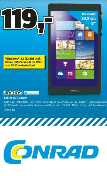 """Archos 80 Cesium 8"""" Windows 8.1 Tablet @Conrad"""