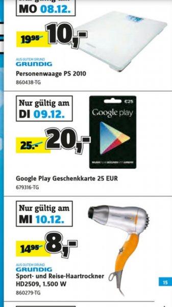 [Conrad offline] 25 € Google Play Store Guthaben für 20 € - nur am 09.12.