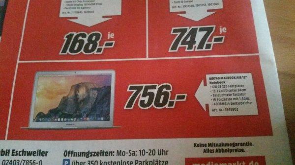 """Apple Macbook Air 13"""" MD760 MediaMarkt Eschweiler"""