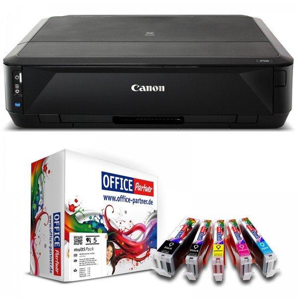 Canon PIXMA iP7250 Tintenstrahldrucker (A4, Netzwerk, WLAN, iPrint, Apple AirPrint, CD/DVD Druck, USB) + 5 kompatible Patronen für 45€@Otto Office