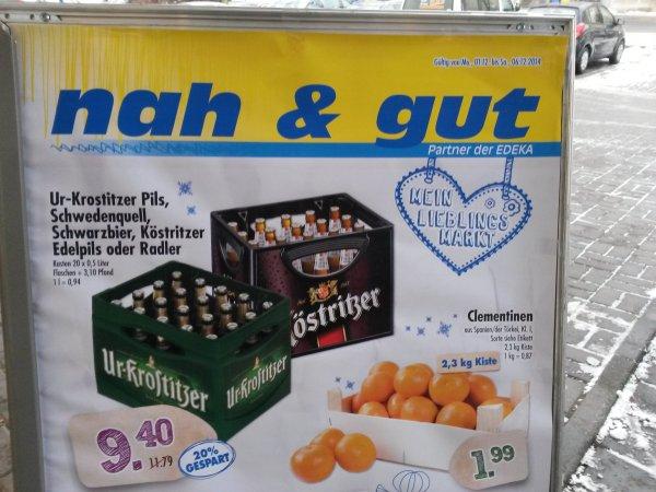 EDEKA / nah&gut [lokal!?] Jena, Erfurt, Dresden , Ur-Krostitzer ; Köstritzer für 9,40€