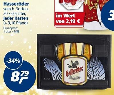 real [lokal] Ost-Deutschland, Rostock, Berlin, Erfurt, Dresden, Kasten Hasseröder für 8,79€