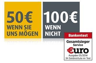 comdirect kostenloses Girokonto: 20€ Cashback@aklamio + 50€ Zufriedenheitsprämie (100€ wenn nicht!)