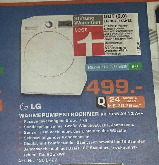 LG RC7055AH1Z Wärmepumpentrockner Lokal Solingen
