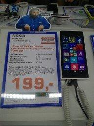 (Saturn Hannover) Nokia Lumia 730 Dual Sim für 199€ immer noch.