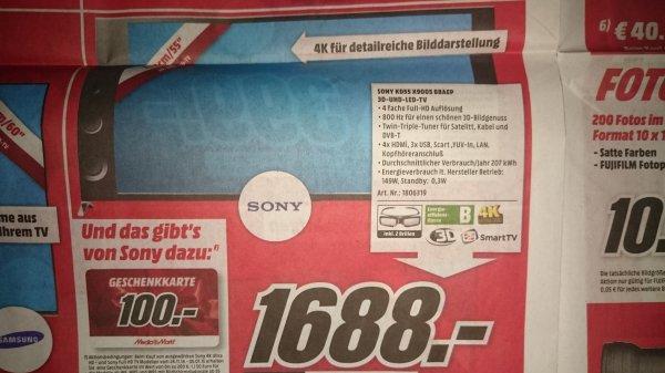 @MediaMarkt Wiesbaden lokal Sony 55X9005