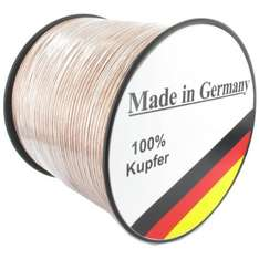 Lautsprecherkabel REINES Kupfer, Made in Germany, 50Meter @Amazon -> 31,86€ inkl. VSK (0,64cent/meter)