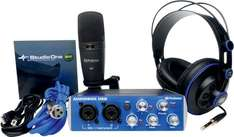 Presonus Audiobox Kit (USB Audiointerface, Studio one Software, M7 Großmembran-Mikro, HD- 7 Kopfhörer)  für 155,96 € @Amazon.fr